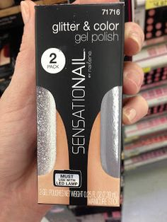 SensatioNAIL Gel Glitter Effects Polishes -  After Five & Silver Glitter