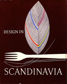 Exhibition catalogue by Tapio Wirkkala for Design in Scandinavia - an exhibition of objects for the home,1954