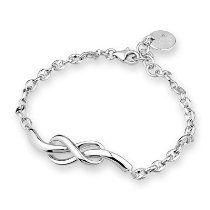 Platinum Plated 925 Sterling Silver Infinity Bracelet