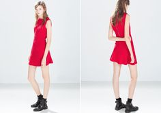 Nagyon mini piros, amit a Mikulás felesége is megirigyelne. Zara, 9995 forint. Zara, Mini, Dresses, Fashion, Vestidos, Moda, Fashion Styles, Dress, Fashion Illustrations