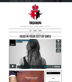"Featured on Amsterdam Fashion Tv ""HEAD IN YOUR FEET BY QWIU"" 