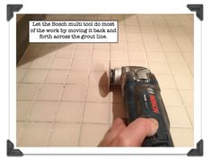 Best Grout Removal Tools For Shower Tile Floors Let The Bosch Multi Tool Do Most