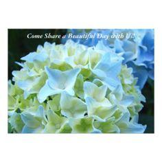 Invitations custom Blue Hydrangea Flowers Garden