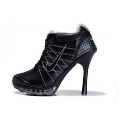Women Nike Air Max 2012 Heels Black Silver Black High Heels b000f74f1