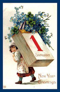 vintage happy new year postcard Vintage Happy New Year, Happy New Year Cards, New Year Wishes, New Year Greetings, Victorian Christmas, Vintage Christmas Cards, Vintage Holiday, Christmas Toys, Vintage Postcards