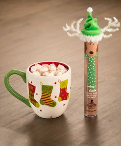 Looking for a meaningful holiday teacher gift? This adorable reindeer hot chocolate mix would be perfect. Only $5 and 100% of the proceeds, after all related expenses, benefit St. Jude Children's Research Hospital.