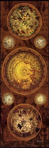 Antique Map, Orbis Geographica I Impressão artística