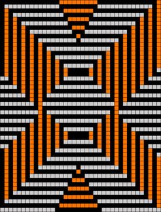 Artwork by at Grid Paint. Tapestry Crochet Patterns, Bead Loom Patterns, Perler Patterns, Quilt Patterns, Knitting Patterns, Cross Stitch Designs, Cross Stitch Patterns, Pixel Art, Diy Art Projects Canvas