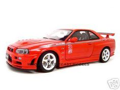 Nissan Skyline GT-R R34 Nismo R-Tune Version R34 Red 1/18 Diecast Model Car by Autoart