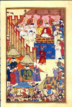 Mongolian Tent, Middle Eastern Clothing, Trojan War, Turkish Art, Medieval Manuscript, Alexander The Great, Central Asia, Shelters, Tents