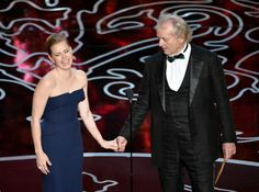 Amy Adams and Bill Murray have fun with their speech as they announce the nominees for cinematography.