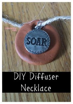 Make your own essential oil diffuser necklace for great aromatherapy benefits anytime~ The Homesteading Hippy #homesteadhippy #fromthefarm #essentialoils #diy