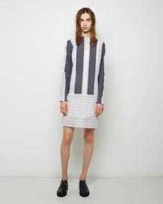 SACAI LUCK | Lace Combo Sweater Dress | Shop at La Garçonne