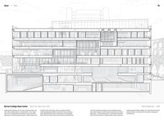 """Studying the """"Manual of Section"""": Architecture's Most Intriguing Drawing,Barnard College Diana Center by Weiss/Manfredi (2010). Published in Manual of Section by Paul Lewis, Marc Tsurumaki, and David J. Lewis published by Princeton Architectural Press (2016). Image © LTL Architects"""