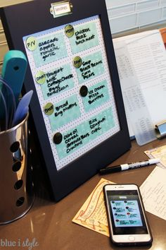 DIY Dry Erase Calendar and To-Do List! Such a smart and easy addition to your family command center!