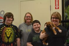 All the homes for the puppies have been selected - Here is Number 6 of 9.  Alfred hit the jackpot today. He gets an early Christmas present of three human playmates, Haylee, Jessie and Ty, as well as an awesome mom, Karee and dad, Scott (not pictured). Alf was a surprise for the kids, who knew they were getting a dog, but not a puppy. Everyone was so excited!!! Merry Christmas to all of you, and thank you for rescuing!!!