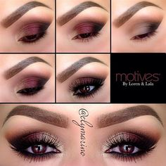 Cranberry Smoky Eye. #makeup #beauty #cosmetics #eyes #eyeshadow #smoky #tutorial #howto