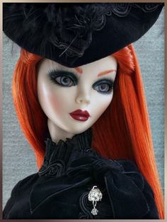 One of the many beautiful Evangeline Ghastly dolls.