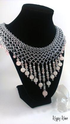 Splendida collana di dea Chainmaille collare con di GypsyGrove