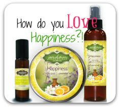 """""""The Happiness Line has really helped me sleep so much better at night, its amazing...I was not able to sleep at all at night without taking some kind of medication. Now since I started using the Happiness Spray every night on my pillow then applying the lotion a little each night behind my ears and a little on my pulse points after about 15 mins I am sound asleep for the whole night!""""--Liz R., beautiful JE customer.  Have you tried some JE Happiness yet?"""