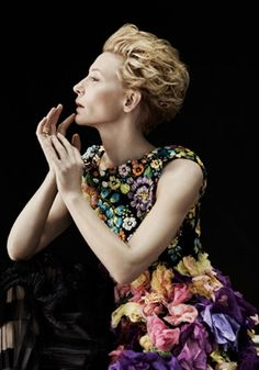 cate blanchet in floral!