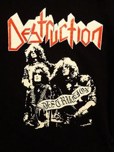 Destruction, Thrash from Germany Destruction Band, Hard Rock, Rock Y Metal, Band Wallpapers, Metallic Wallpaper, Band Photos, Rock Outfits, Heavy Metal Bands, Metal Artwork