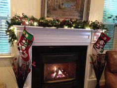 Christmas mantle decor.