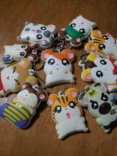 hamtaro family keychain
