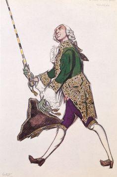 Leon Bakst. Sketch of a man's costume. Эскиз мужского костюма.