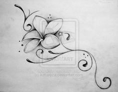 frangipani tattoo - With a splash of light warm toned colours