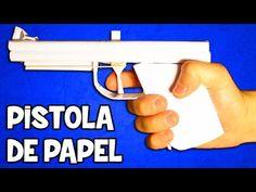 Como hacer un Rifle de Papel que Dispare - YouTube
