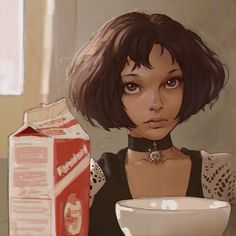 Mathilda by Ilya Kuvshinov ★ || CHARACTER DESIGN REFERENCES | キャラクターデザイン • Find more artworks at https://www.facebook.com/CharacterDesignReferences http://www.pinterest.com/characterdesigh and learn how to draw: #concept #art #animation #anime #comics || ★