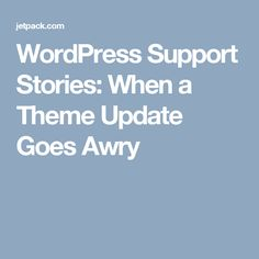 Major site changes should only be done with a proper site backup. Wordpress Support
