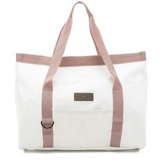 adidas by Stella McCartney Swim Tote (£120) ❤ liked on Polyvore featuring bags, handbags, tote bags, white, tote purse, pocket tote bag, handbags totes, white purse and adidas