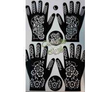 Pochoirs motifs pour tatouage au henné n°2