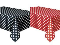 Set of 2 Minnie Mouse Polka Dots Table Covers Red & Black Lady Bug Birthday Mickey by InMyLifeBoutique on Etsy https://www.etsy.com/listing/189337659/set-of-2-minnie-mouse-polka-dots-table