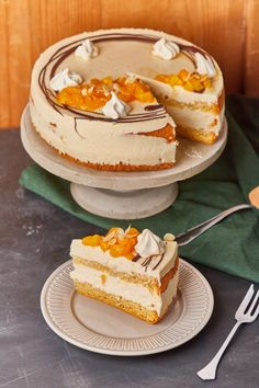 Apple Desserts, Vanilla Cake, Panna Cotta, Sweets, Cakes, Healthy Recipes, Foods, Seasons, Eat