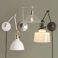 Rejuvenation Imbrie articulating wall sconces - many, many customization options. I love these!