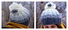 Ombre Pom Pom Beanie Free Pattern - Things We Do Blog