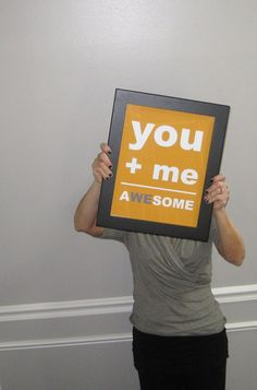 You + me = A we some