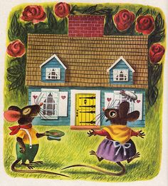 https://flic.kr/p/bhMgeP | Mouse's House | story by Kathryn and Byron Jackson, illustrated by Richard Scarry (1949).  blogged