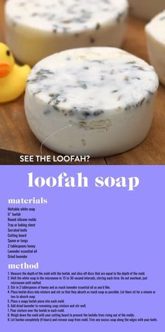 DIY Lavender & Honey Loofah Soap - Crafted
