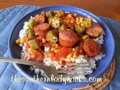 Smoked Sausage, Tomatoes and Okra Skillet - TSLC  could easily be made  Paleo.