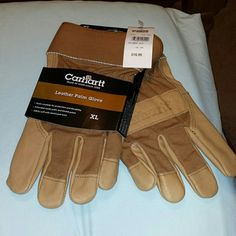 Gloves NWT Carhartt men's gloves or women if you can wear leather palms excellent condition brownish tan in color Carhartt Other