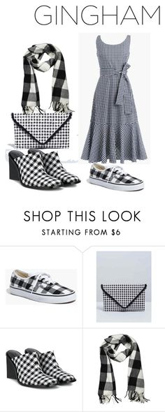 """""""Gingham Dress: Black and White"""" by carcar122204 ❤ liked on Polyvore featuring Madewell, Lane Bryant, Marques'Almeida, Dorothy Perkins and gingham"""