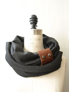 Chunky+charcoal+circular+infinity+scarf+by+System63+on+Etsy,+$40.00