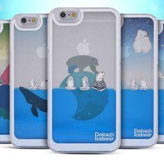 Dolce Ice Bear Aqua Case Galaxy S6 Case Galaxy S6 Edge Case 5 Types Liquid Case #Dolce