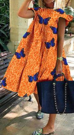 African Fashion Ankara, Latest African Fashion Dresses, African Print Fashion, Short African Dresses, African Blouses, African Attire, African Wear, Simple Dresses, Casual Dresses