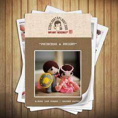 Princess & Knight Crochet Pattern  #amigurumi #pattern #epattern #ebook #etutorial #princess #knight #lovestory #amigurumitoy
