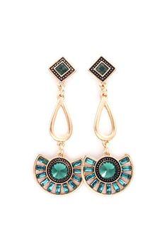 Dianna Earrings in Emerald